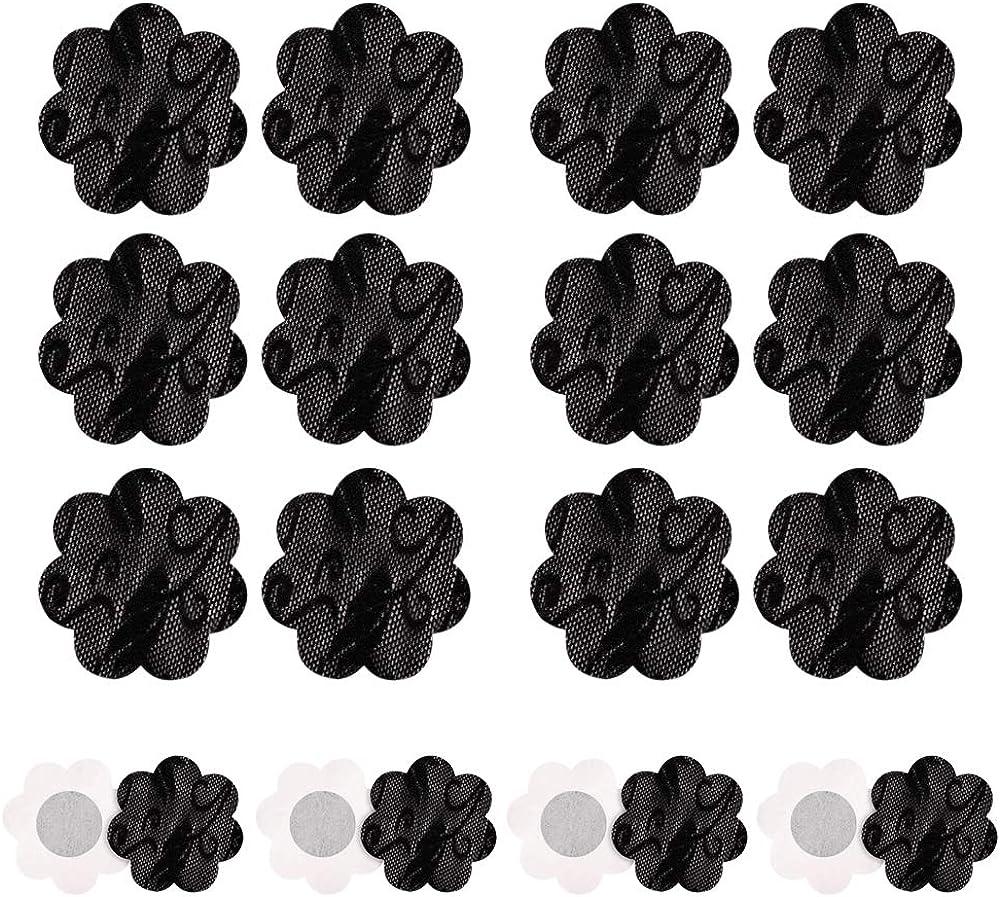 ZEVONDA 10 Paar Damen Nippel Abdeckungs Brustaufkleber Brustwarzenabdeckung Selbstklebend Aufkleber Einweg Bl/ütenform Nippelabdeckung Pad