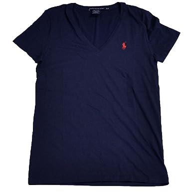 Ralph Lauren Women's V-Neck Jersey T-Shirt at Amazon Women's ...