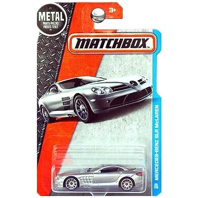 Matchbox 2016 MBX Adventure City Mercedes-Benz SLR McLaren 29/125, Silver: Toys & Games