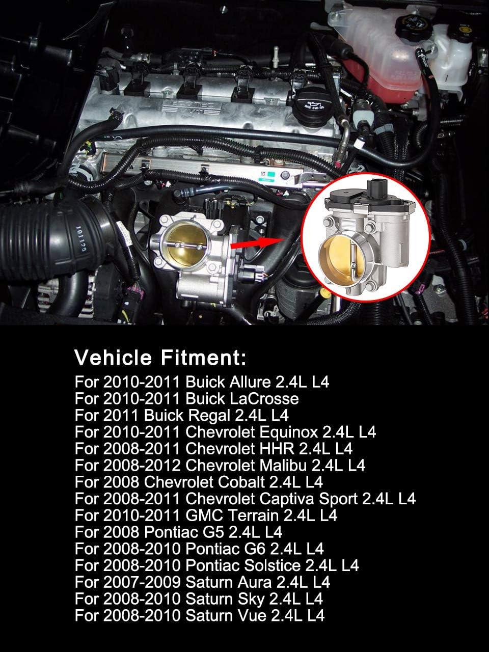 12631186 Throttle Body For Chevrolet Equinox Malibu Cobalt HHR Saturn Vue Aura Pontiac G5 G6 2.4L