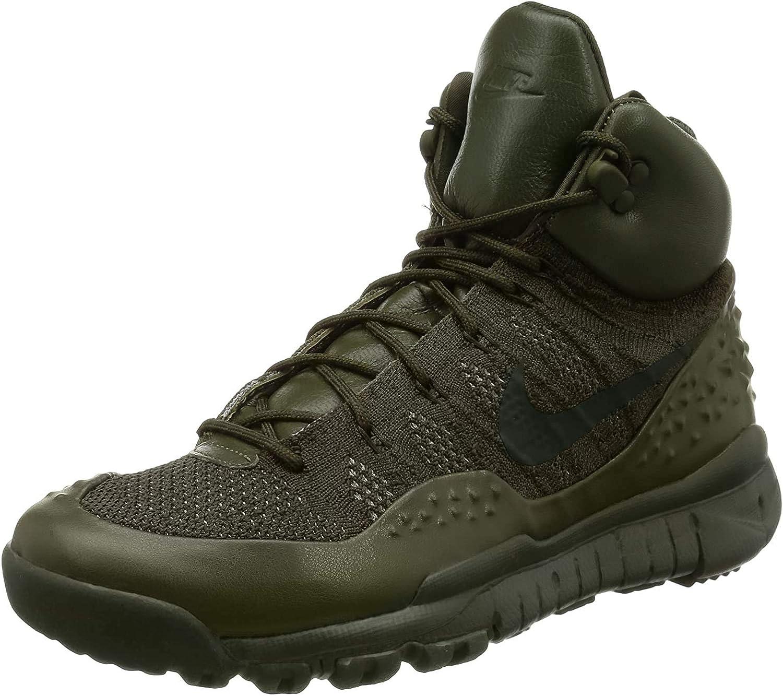 Nike Men's Lupinek Flyknit Sneakers Shoes Khaki 862505-300