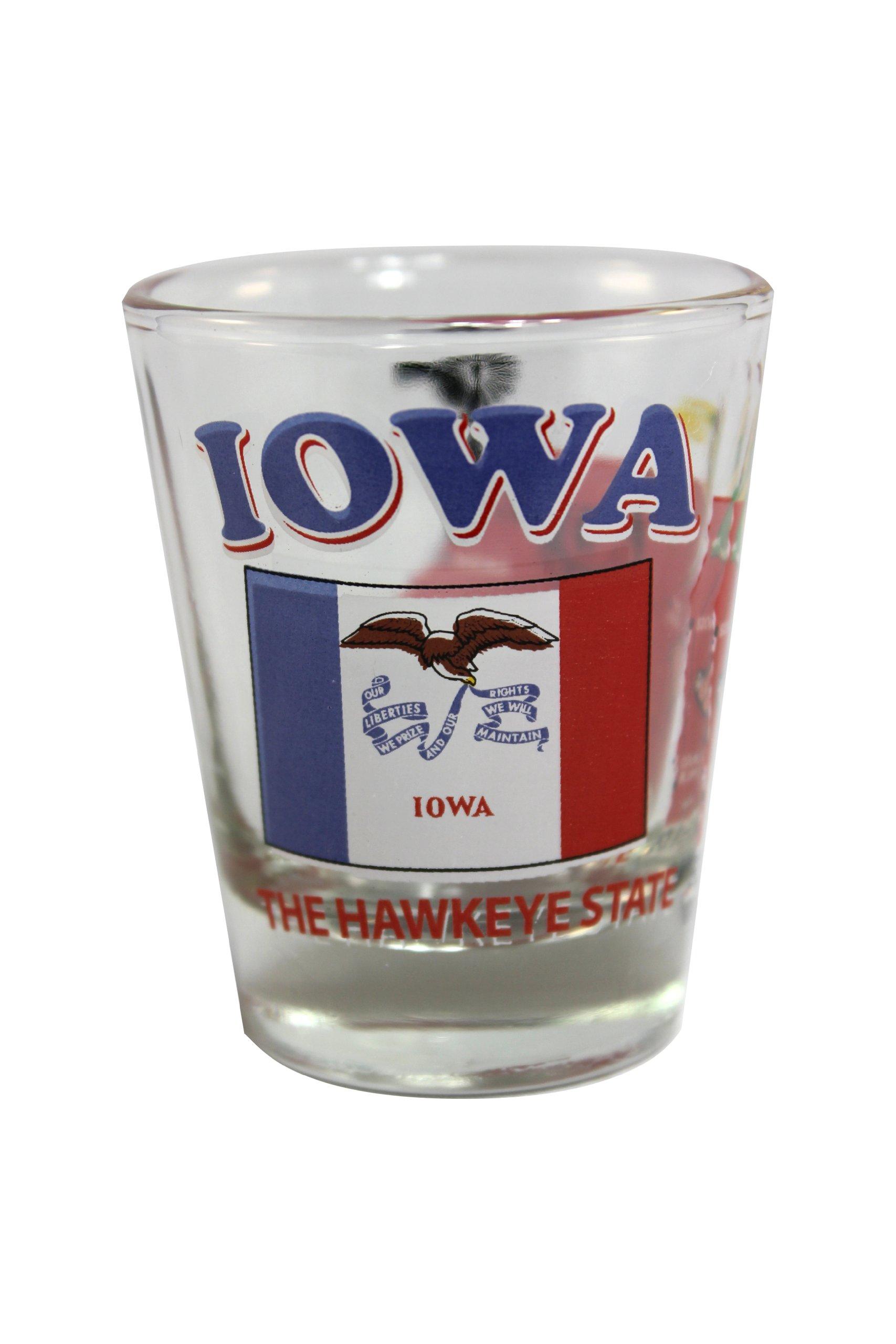 Souvenir Shot Glass Iowa IA - (Box of 12)