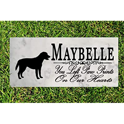 Broad Bay Labrador Dog Memorial Personalized Stone Marker Gift Custom Garden Marker Memory Sign Outdoor Grave Headstone: Kitchen & Dining