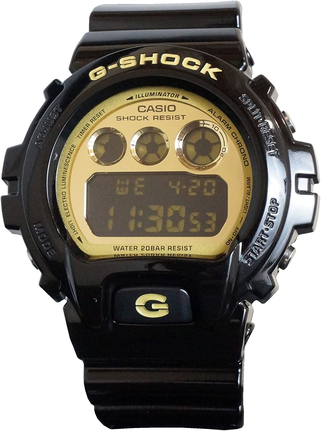 Casio – G-Shock – Mirrored Style – DW6900-CB Series – Black w Gold Face , One Size