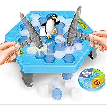 DSRose Pingüino Trampa Activado Divertido Juego Interactivo Ice Breaking Mesa pingüino Trampa Entretenimiento Juguete para niños Familia diversión Juego: Amazon.es: Juguetes y juegos
