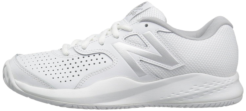 New Balance Women's WC696V3 Hard Court Tennis Shoe B01FSIK7CO 12 D US White/Silver