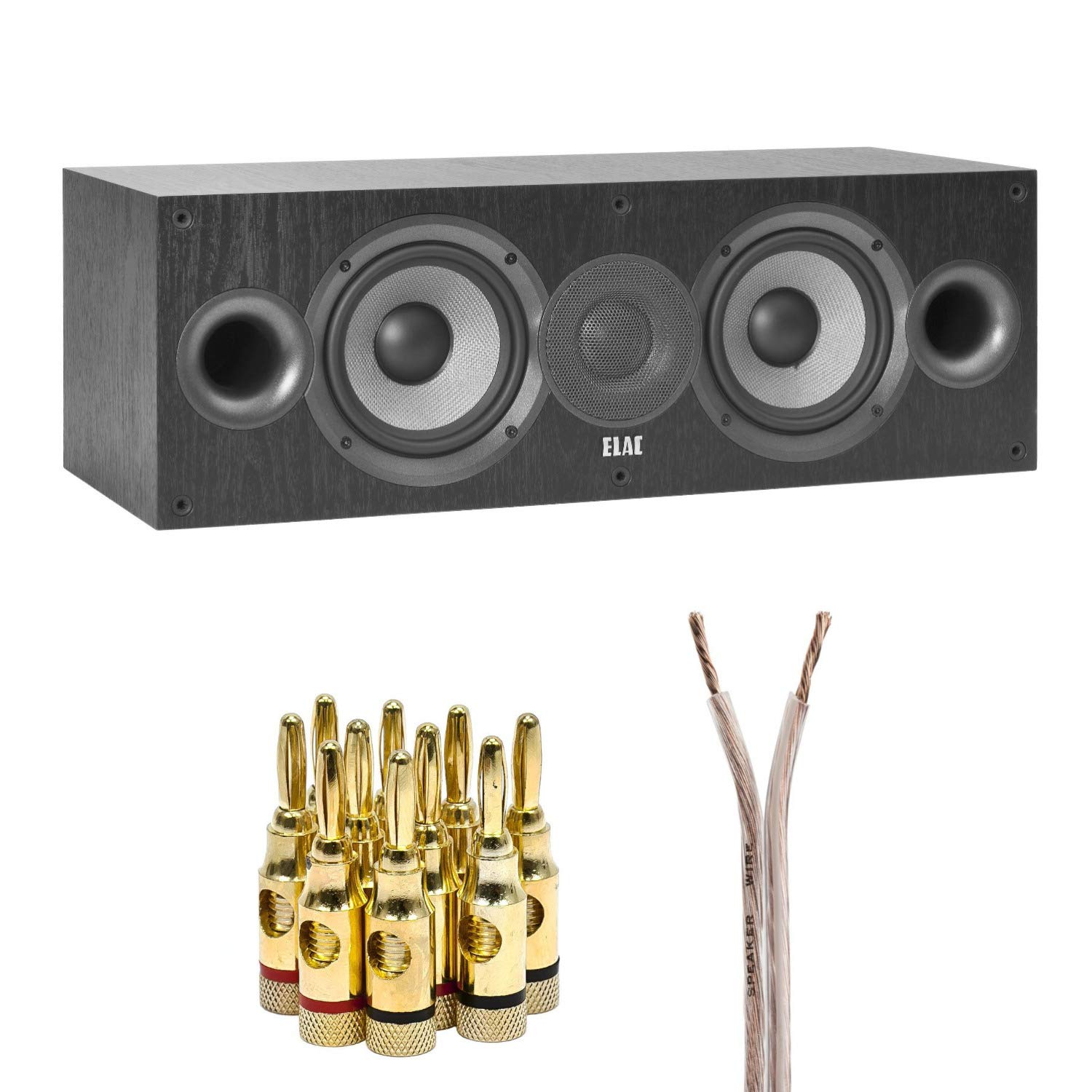Elac Debut 2.0 C5.2 Center Channel Speaker with Speaker Wire and Banana Plugs