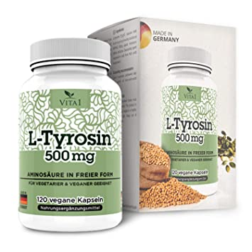 Cápsulas de L-Tirosina 500mg de VITA1 • 120 cápsulas (2 meses de ...