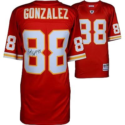size 40 6708f ddeee Tony Gonzalez Kansas City Chiefs Autographed Red Mitchell ...