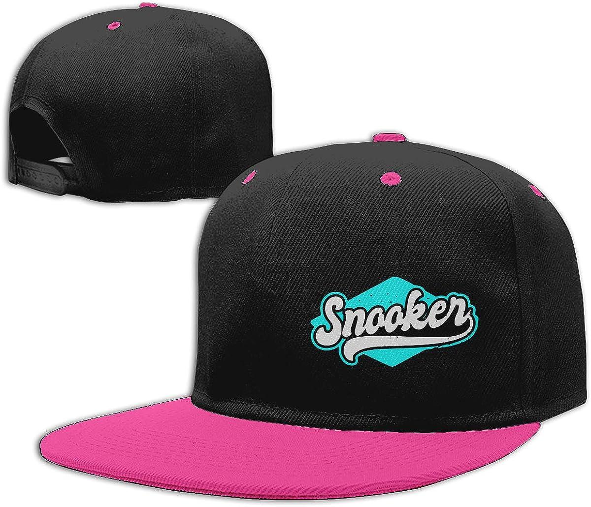 Snooker Unisex Flat Brim Baseball Caps Women Men Punk Rock Cap