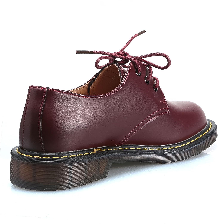 MForshop scarpe donna mocassino ec stringate anfibi bassi scarponcino ec mocassino pelle 9931  Bordeaux 074f90