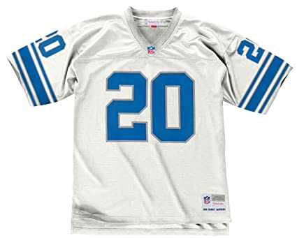 Barry Sanders Detroit Lions White 1996 Mitchell   Ness Throwback Jersey ... 291617766