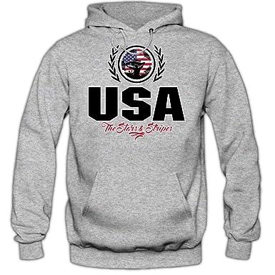 Shirt Happenz Fútbol Estados Unidos V2 Sudadera con Capucha | Hombre | Fútbol | Equipo Nacional