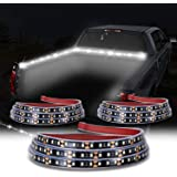 KUFUNG Truck Bed Light Strip, 3PCS 60'' 405-SMD-LED White LED Strip with On/Off Switch, Blade Fuse Splitter Extension…