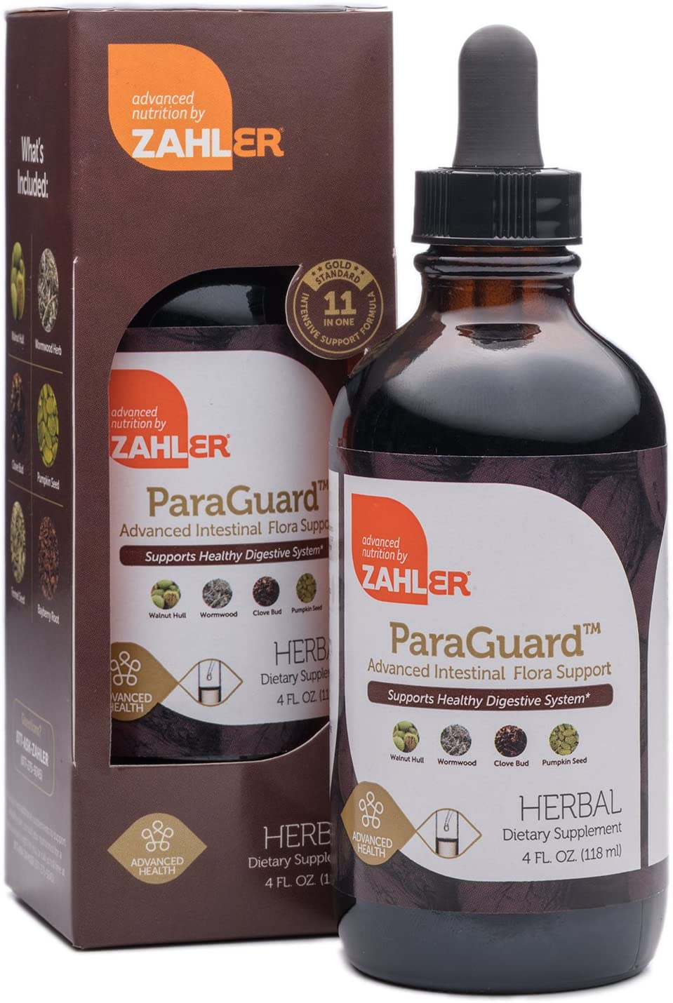 Zahler ParaGuard, Advanced Digestive Cleanse, Intestinal Support for Humans, Contains Wormwood, Certified Kosher 4OZ