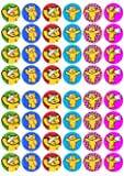 48 x Pudsey Bear Children In Need fairy cake toppers printed on wafer paper (Pre Cut) (Pre Cut)