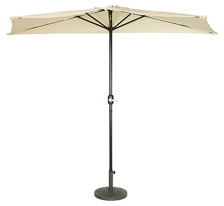 Patio Half Umbrella   9u0027   By Trademark Innovations (Beige)