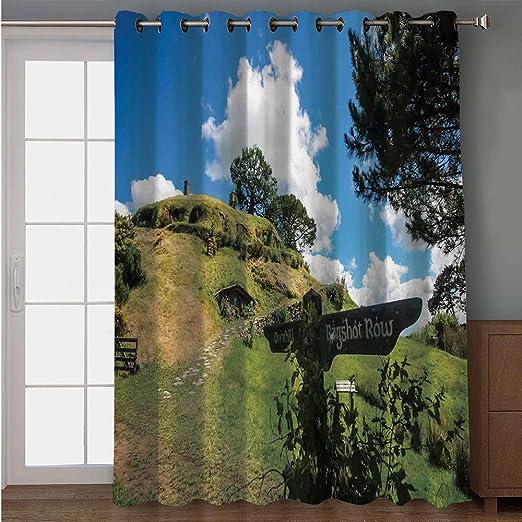 iPrint cortina para puerta de patio, con patrón de acuarela, patrón de jardín con ramas de