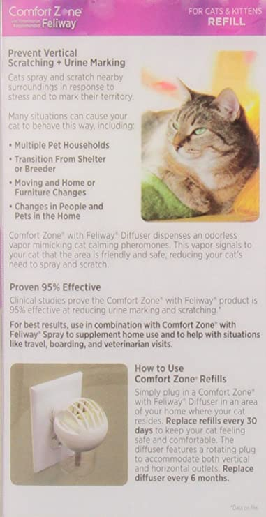 Zona de Confort con Feliway difusor de Gatos Recambio para, 48 en milímetros, 1-Pack: Amazon.es: Productos para mascotas