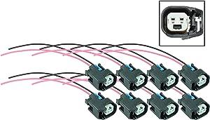 ICT Billet LS EV6 LS3 Injector Wire Connector Pigtail Plug USCAR (8 pack) WPINJ40X8