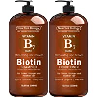 Biotin Shampoo and Conditioner Set for Hair Growth and Volume – Anti Dandruff Thickening...