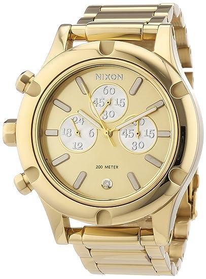 Nixon A3541219-00 - Reloj cronógrafo de cuarzo para mujer con correa de acero inoxidable, color plateado: Nixon: Amazon.es: Relojes