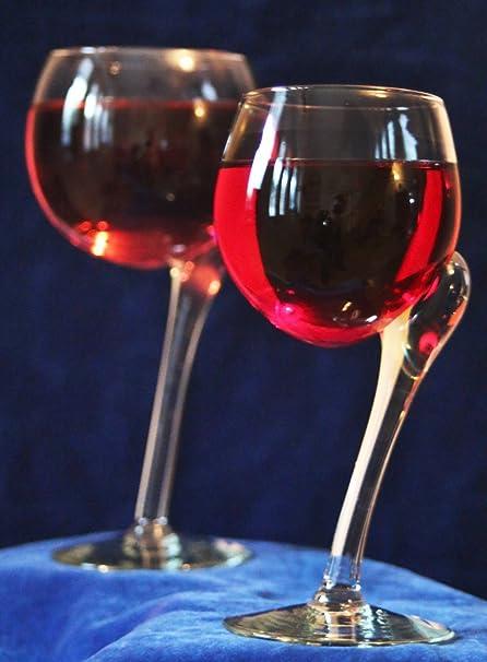 Comercio justo, cristal reciclado Ngwenya torcido copas de vino rojo – Caja de regalo de