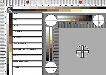 DGK 4 N6 Juego de 5 Forenses regla Báscula de abfo pulgadas y métricas para la