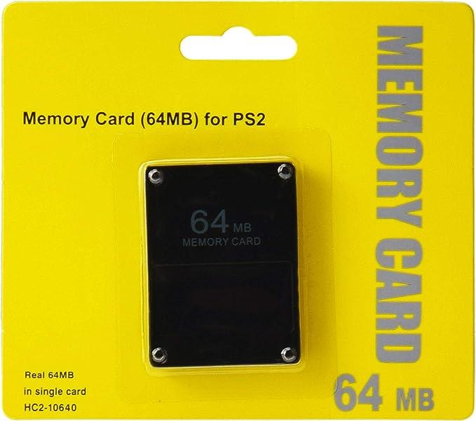 Tarjeta de Memoria Memory Card para Sony Playstation 2 64 MB negro ...