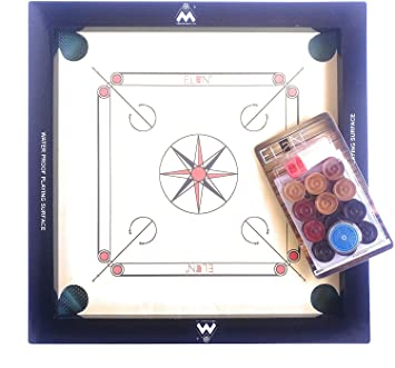 Chhabra Sport Product Indian Carrom Board with Carrom Powder