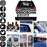 MACOES Pegatinas Personalizadas vinilo Decorativo Redes Sociales Letras Nombres Etiquetas Adhesivas Tumblr Vasos Libro…