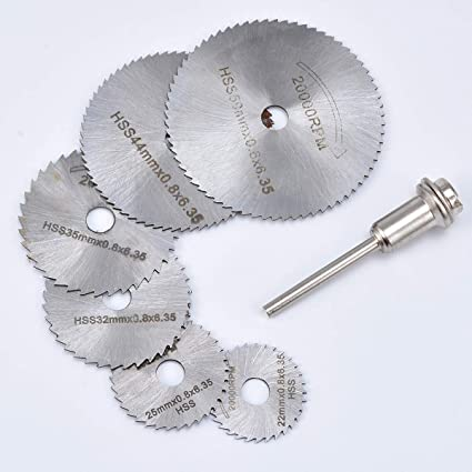 Mandrel High Speed Steel Circular Wood Saw Blades 22//25//32//35//44//50mm Out Dia
