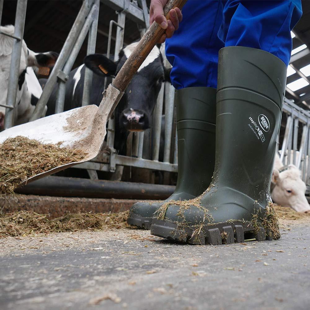 leggero che indossa comfort senza metallo piedi anatomici verde Robusti scarponi invernali da uomo fino a -40 gradi per piedi caldi suola antiscivolo tappo di sicurezza senza metallo // suola