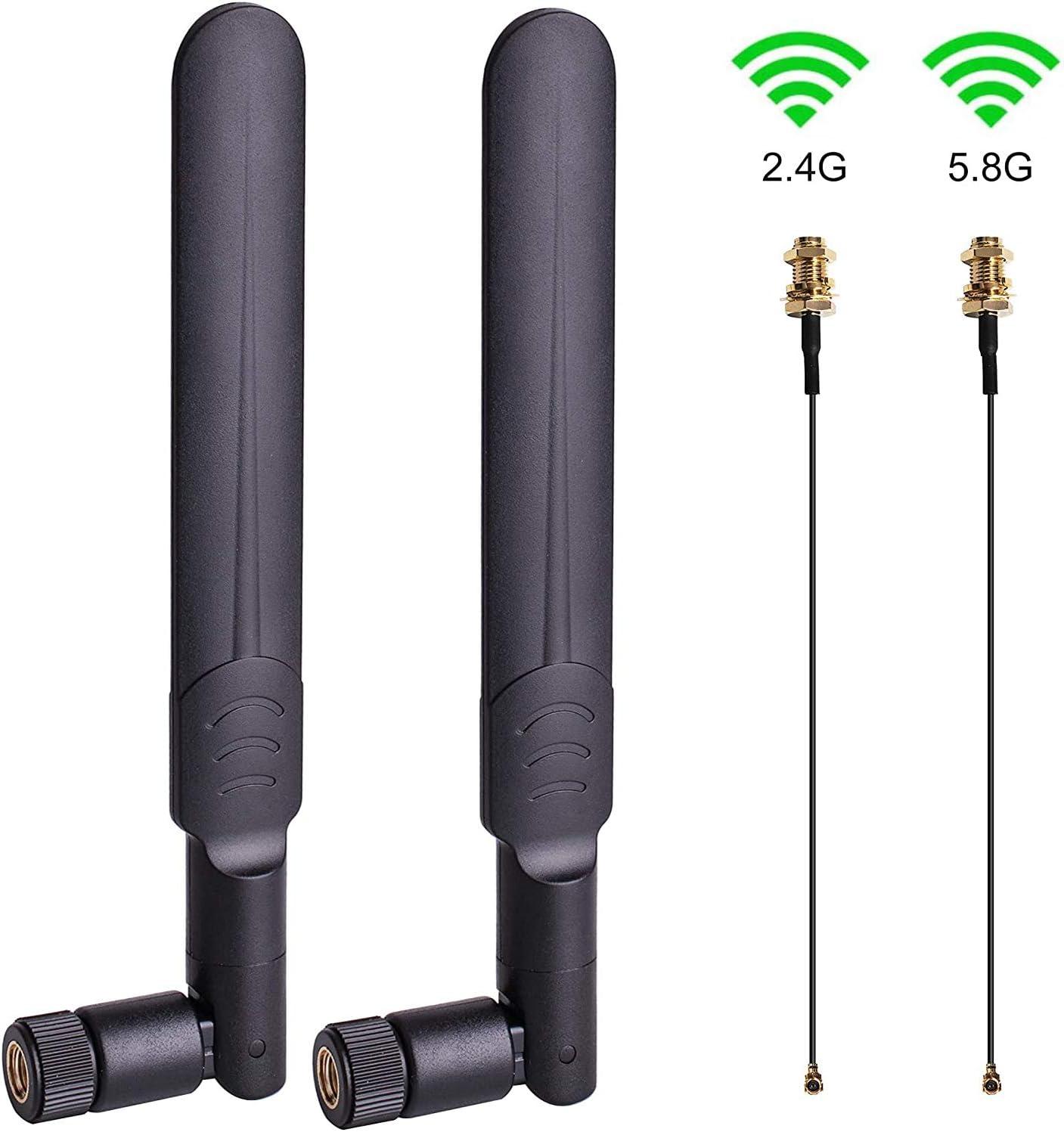2 x Dual Band WiFi 6dBi Antenna RP-SMA 2.4Ghz 5Ghz