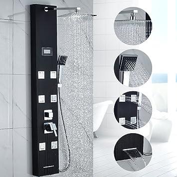 Auralum ® Columna hidromasaje para ducha con 8