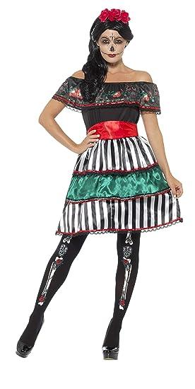 Smiffys Smiffys-48077X1 Disfraz de señorita del día de Muertos ...