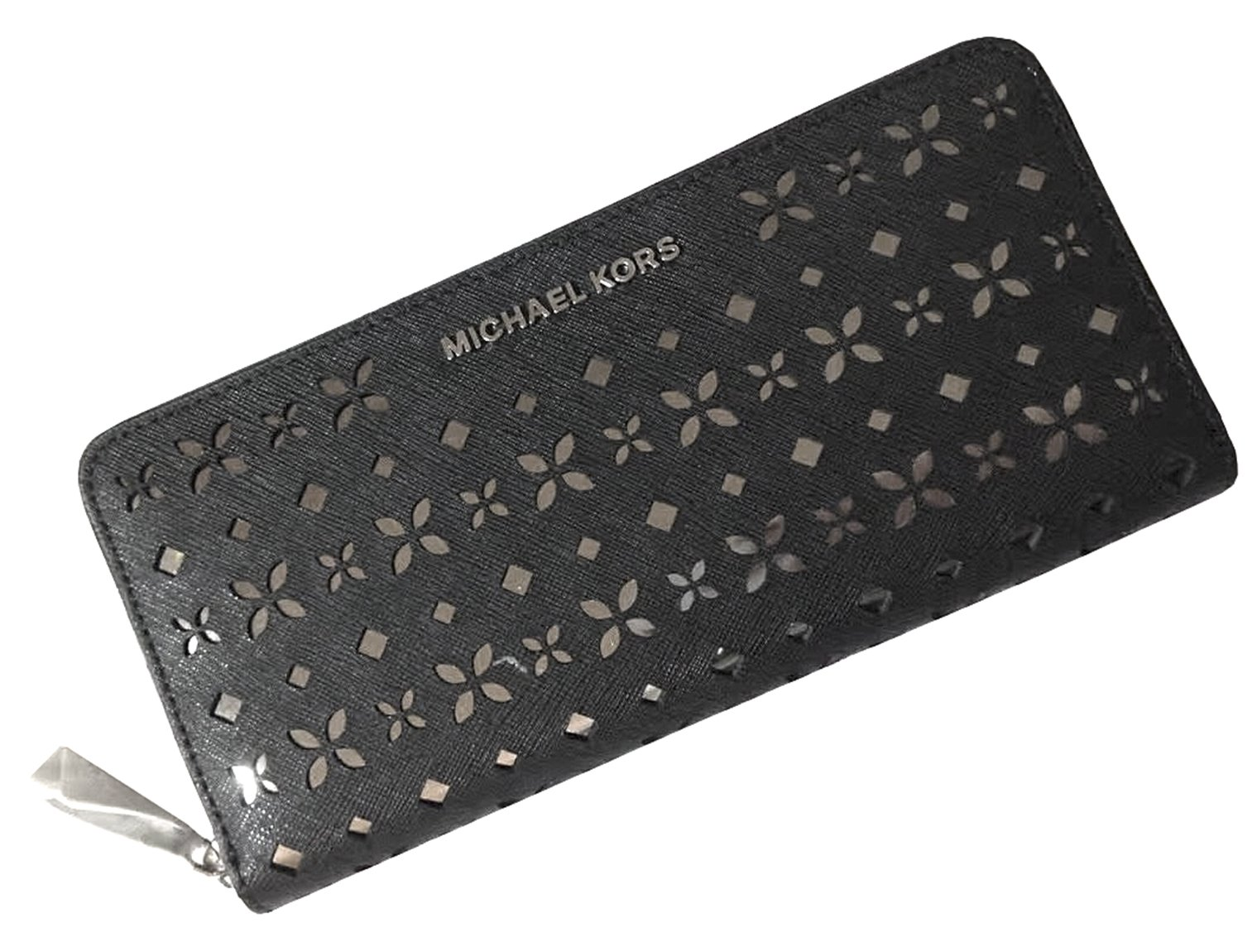 MICHAEL MICHAEL KORS Jet Set Travel Perforated-Leather Continental Wallet