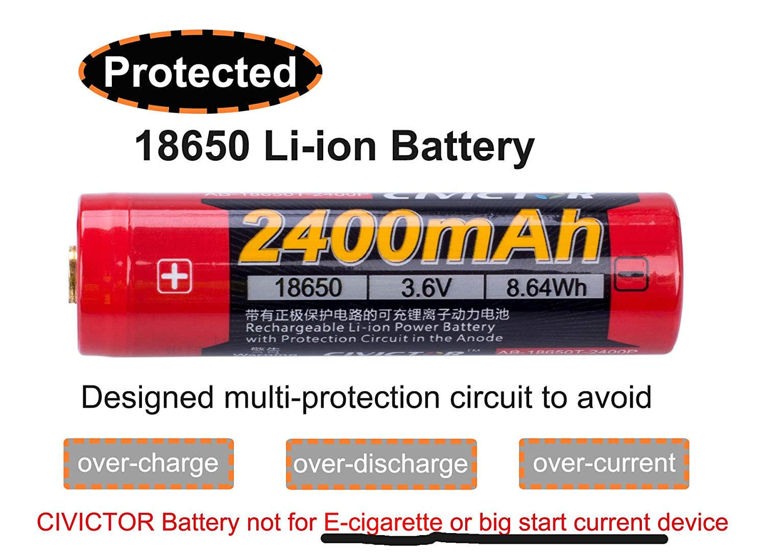 37v 18650 Battery Protected Li Ion Rechargeable Details About 3 X Case Box With Protection Circuit 37 Volt Lithium Button Top 2400mah 36v Type