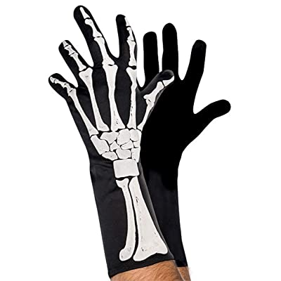 amscan Black & Bone Skeleton Gloves: Toys & Games