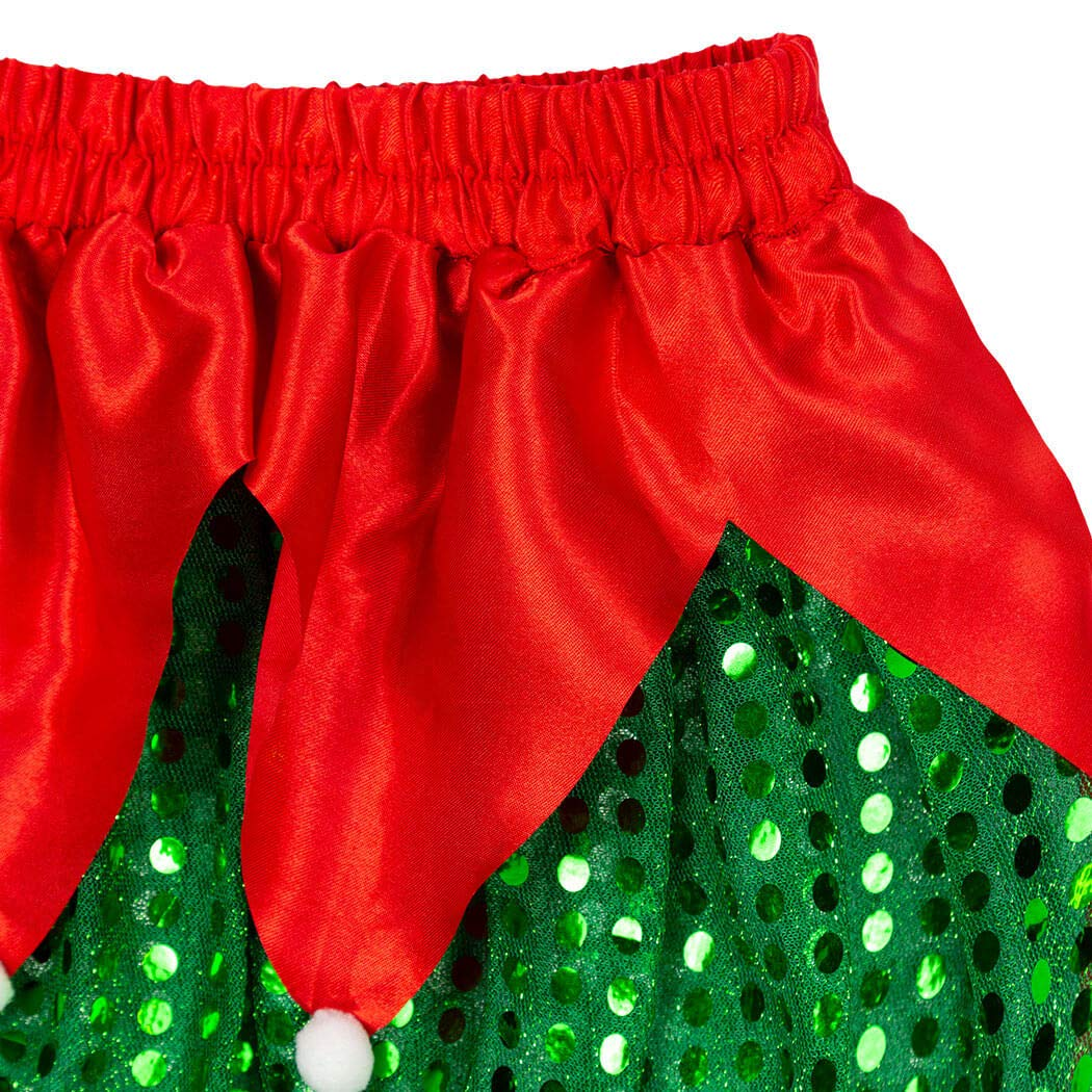 Sequined Elf Tutu Gone For a Run Holiday Running Costume Skirt