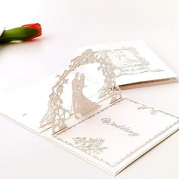 3D Pop Up Wedding Card