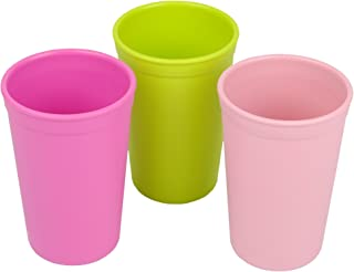 product image for Re-Play Made in the USA 3pk Drinking Cups for Baby and Toddler - Bright Pink, Lime Green, Blush (Tulip)