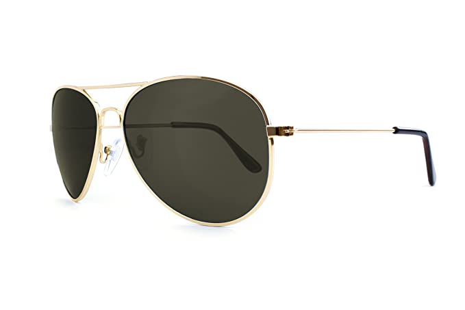 Gafas de Sol Knockaround Mile High Gold Aviator / Green Polarizada