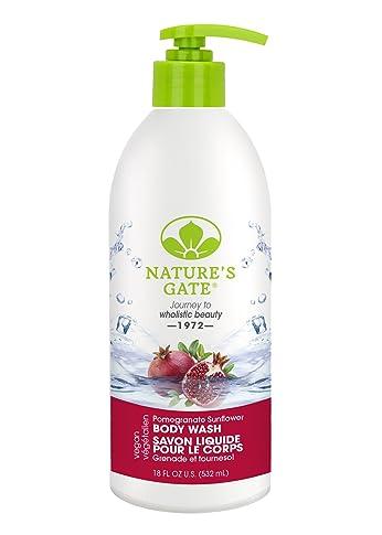 Nature's Gate Pomegranate Sunflower Velvet Moisture Body Wash, 18 Ounce (Pack of 2)