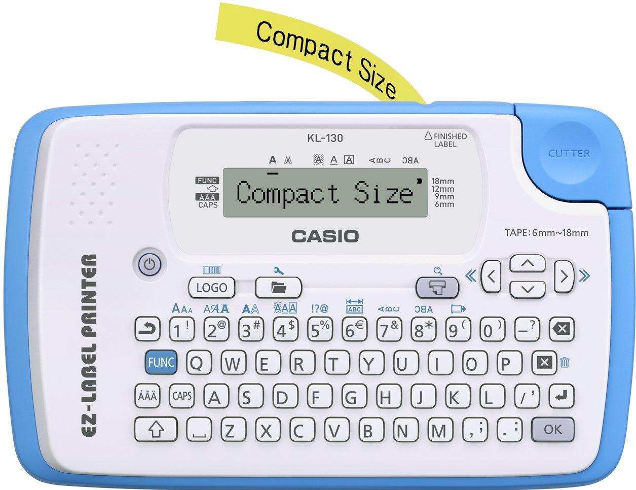 CASIO EZ-Label Printer KL-130 Beschriftungsgerä t fü r Schriftbä nder 6 / 9 / 12 / 18 mm Casio Europe GmbH (Office Parent)