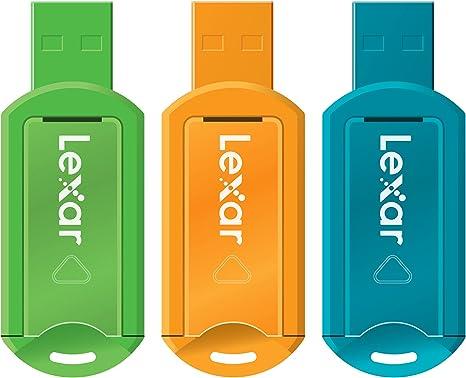 Lexar LJDV20-8GBABEU3 - Memoria USB Pack 3 Pendrive V20 Jumpdrive 8 GB: Amazon.es: Informática