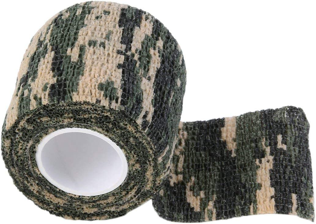 Formulaone Camuflaje elástico Caza al Aire Libre a Prueba de Agua Camping Stealth Camo Wrap Cinta Militar Airsoft Paintball Estiramiento Vendaje
