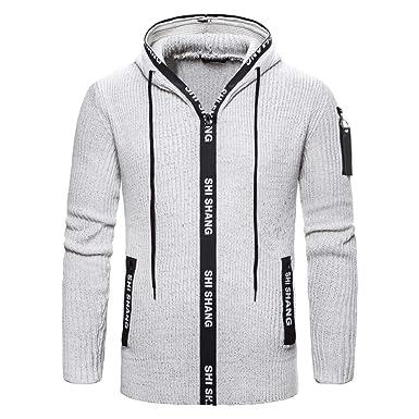 Solid maglia giacca con cappuccio maglia uomo nero nuovo taglia M