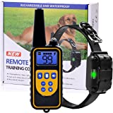 Dog Training Collar, Upgraded 2600 Foot Remote Waterproof Rechargeable Dog Shock Collar with Beep, Vibration and Shock for Small Medium Large Dog