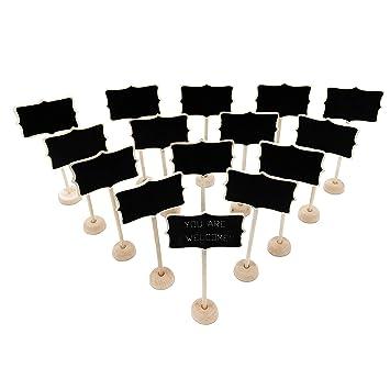 Lote de 15 mini pizarras de madera con caballetes de apoyo ...